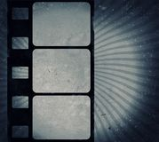 Marco de película del Grunge con el espacio para el texto o la imagen Fotos de archivo