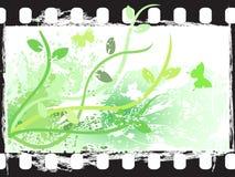 Marco de película floral de Grunge Ilustración del Vector