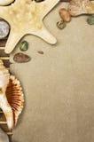 Marco de piedra del mar Imagen de archivo