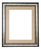 Marco de plata adornado con la lona Imagen de archivo libre de regalías