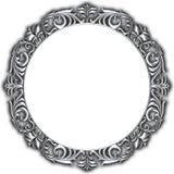 Marco de plata aislado Imagenes de archivo