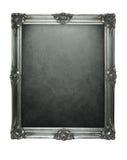 Marco de plata de Grunge Fotografía de archivo