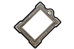 Marco de plata deslustrado Imágenes de archivo libres de regalías