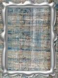 Marco de plata en lona Foto de archivo libre de regalías