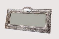 Marco de plata para las pinturas, los espejos o las fotos fotos de archivo libres de regalías