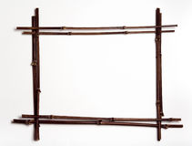 Marco de postes de bambú w/copyspace Fotos de archivo