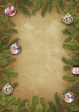 Marco de ramificaciones de un árbol de navidad Fotos de archivo libres de regalías
