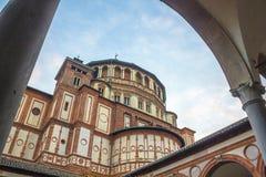 Marco de Santa Maria Delle Grazie Imágenes de archivo libres de regalías