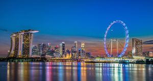 Marco de Singapura Imagens de Stock