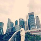 Marco de Singapura imagem de stock royalty free