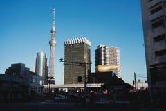 Marco de Skytree do Tóquio de Japão imagem de stock