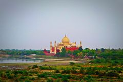 Marco de Taj Mahal na Índia Foto de Stock Royalty Free