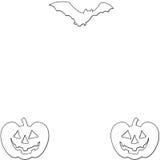 Marco de tarjeta de Halloween Libre Illustration
