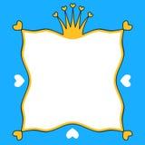 Marco de tarjeta de la invitación de la corona de los reyes Imagenes de archivo
