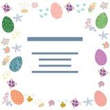 Marco de texto adornado de los huevos de Pascua stock de ilustración