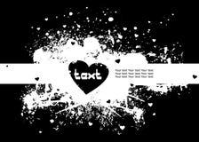 Marco de texto con el corazón Imagenes de archivo