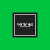 Marco de texto de Minimalistic en fondo verde claro ilustración del vector