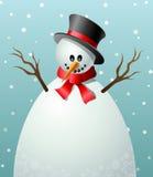 Marco de texto del muñeco de nieve de la historieta Fotografía de archivo libre de regalías
