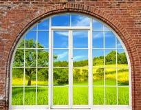 Marco de ventana Foto de archivo libre de regalías