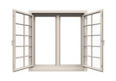 Marco de ventana aislado Foto de archivo libre de regalías