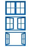 Marco de ventana azul Fotografía de archivo libre de regalías