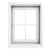 marco de ventana 3d stock de ilustración