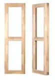 Marco de ventana de madera Fotos de archivo