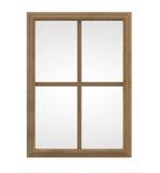 Marco de ventana de madera stock de ilustración