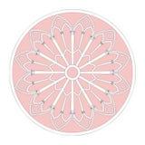 Marco de ventana decorativo Imagen de archivo libre de regalías