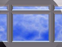 Marco de ventana del cromo Imagen de archivo libre de regalías