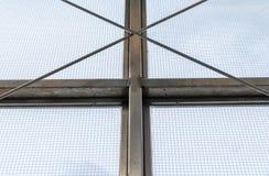 Marco de ventana industrial de acero fotografía de archivo