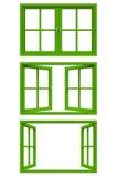 Marco de ventana verde Imágenes de archivo libres de regalías