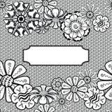 Marco de Zentangle del vector - mano dibujada Vector Fotografía de archivo libre de regalías