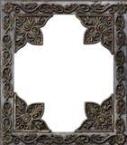 Marco decorativo antiguo del metal Fotografía de archivo libre de regalías