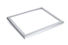 Marco decorativo de aluminio de la foto en el fondo blanco Imagenes de archivo