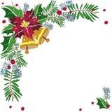 Marco decorativo de la esquina de la Navidad Fotos de archivo libres de regalías