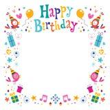 Marco decorativo de la frontera del feliz cumpleaños libre illustration