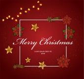 Marco decorativo de la Navidad