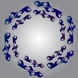 Marco decorativo de la onda del mar del ornamento del círculo del vector fotos de archivo libres de regalías