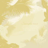Marco decorativo de las hojas de árboles tropicales Fotos de archivo