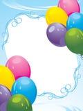 Marco decorativo de los globos coloridos. Tarjeta festiva Foto de archivo libre de regalías