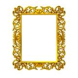 Marco decorativo del oro Fotos de archivo libres de regalías