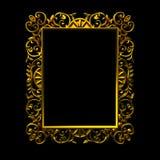 Marco decorativo del oro Foto de archivo