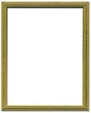Marco decorativo del oro Fotografía de archivo