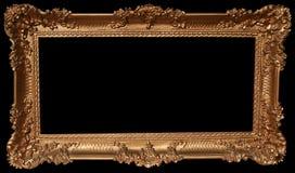Marco decorativo del oro Fotografía de archivo libre de regalías