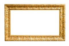Marco decorativo del oro aislado en blanco imagenes de archivo