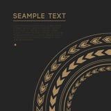 Marco decorativo ornamental del círculo Imagenes de archivo