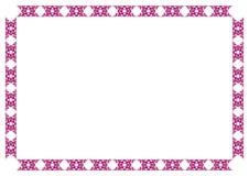 Marco decorativo púrpura Imágenes de archivo libres de regalías