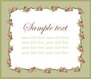 Marco decorativo. Tarjeta de felicitación con las rosas. Imagen de archivo libre de regalías