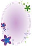 Marco del óvalo de la flor stock de ilustración